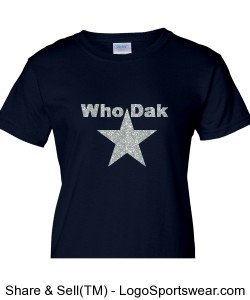 Glittery Girls! Cowboys Fans Representing DAK Design Zoom