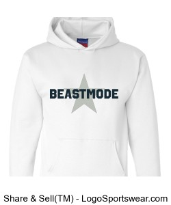 Beastmode Heavyweight Pullover Hooded Sweatshirt Design Zoom